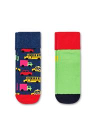 Happy Socks 2-Pack Antislip, Cars,  12-24 maanden, schoenmaat 22-24
