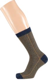 Sarlini Fashion Dames sokje met Lurex Blauw/Goud | Maat 36-41
