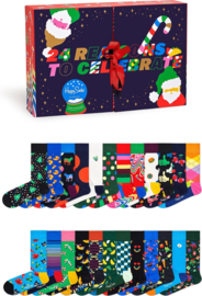 Happy Socks 24 Days of Holiday Socks 24-Pack Giftbox