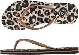 Flip flops Dames | Teenslippers Leopard