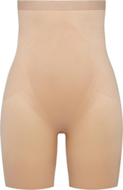 Spanx | Thistincts High Waisted Mid Thigh Short Champagne Beige