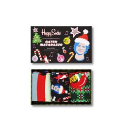 Happy Socks vs Gaten Matarazzo Seize the Season Holiday GiftBox 3-Pack