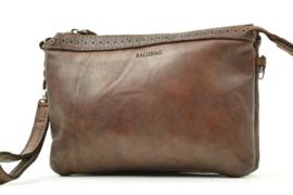 Bag2Bag Compacte Tas|Clutch, Limited Edition, Plano Dark Tan Cognac