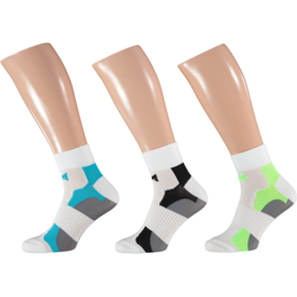 Xtreme Cycling Ankle   Fiets sokken   Multi White   3-Pack