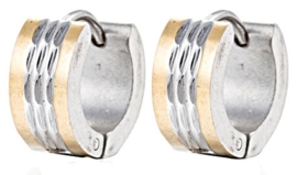Creool Oorbellen Edelstaal, Stainless Steel 13mm OB0192