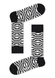 Happy Socks Optic Dot Half Crew Socks Black & White