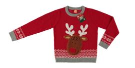 Sarlini Kinder Kerst Trui Rood Rudolf