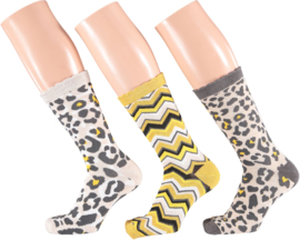 Apollo Leopard Socks | 3-Pack Giftbox | Maat 36-41