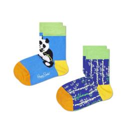 Happy Socks Kids 2-Pack Panda & Bamboo