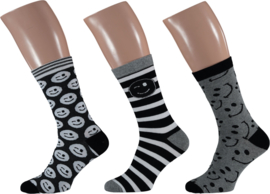 Apollo Smiley Emoji Socks | 3-Pack Giftbox | Maat 41-46
