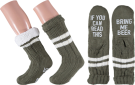 HomeSocks Antislip If you can read this, Bring me beer