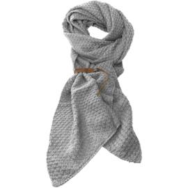 LOT83 | Bo | Lange knitted Gebreide Sjaal | Lichtgrijs