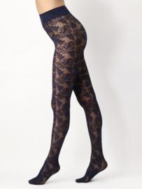 Oroblu   Floral Lace 40 Panty Zwart/Olive