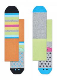 Happy Socks 2-Pack Antislip, Stripe,  6-12 maanden, schoenmaat 15-18