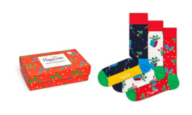 Happy Socks Christmas 3-Pack Singing Gift box