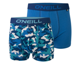 O'Neill 2-Pack Heren Boxershorts Camouflage Blauw | 9006622