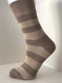 Boru Bamboo Design Stripe Sock | 2-Pack | Beige