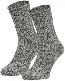 Boru Norweger Noorse wollen sokken | 2-Pack | Grijs Melange