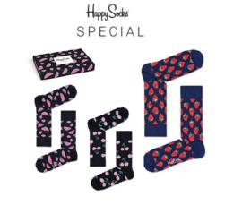 Happy Socks 3-Pack Gift box Watermelon & Cherry