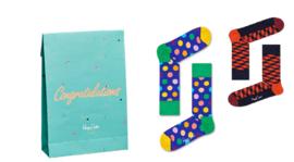 Happy Socks 2-Pack Gift Bag Congratulations