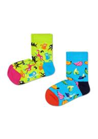 Happy Socks Kids 2-Pack Banana Socks