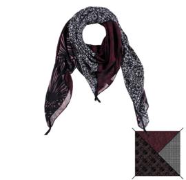 Sarlini Vierkante zwarte Dames sjaal Design