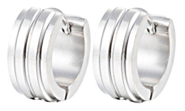 Creool Oorbellen Edelstaal, Stainless Steel 13mm OB0188