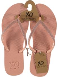 Flip flops Dames | Teenslippers Roze met glitters