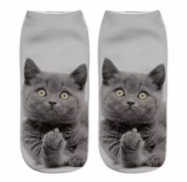 Dames Sneakersok Cats, Funny one Maat 36/39
