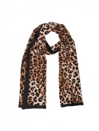 Mooie Leopard Sjaal Brown/Black