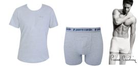 Pierre Cardin Box set Heren Trunk/Boxershort inclusief TShirt Grijs