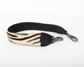 Bag2Bag Verwisselbare schouderband Zebra zwart 60cm