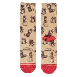 XPooos Socks, kerstsokken, Xmas Vintage Dots 70124