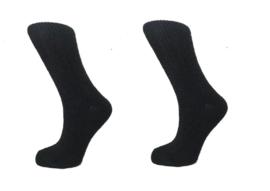 Boru Lamswollen sokken | 2-Pack | Zwart