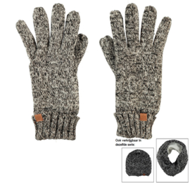 Sarlini knitted Dames handschoen Zwart