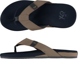 QX Heren Teen Slipper met comfortabele zachte zool Navy/Beige