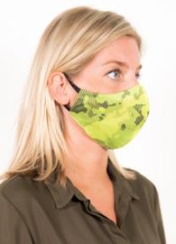 Wasbaar Groen mondkapje met patroon Santevie