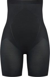 Spanx | Thistincts High Waisted Mid Thigh Short Zwart