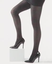 Sarlini Fashion panty Grafisch Zwart | 80 Denier