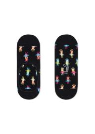 Happy Socks Liner | Sneakersock | Hula Zwart