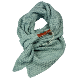 Gebreide Knitten Royale omslagdoek | wintersjaal Lot, Mint groen