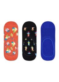 Happy Socks 3-Pack Liner | Sneaker Socks Hibiscus