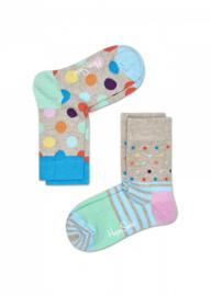 Happy Kids 2-pack  Big Dots & Stripes Pastel