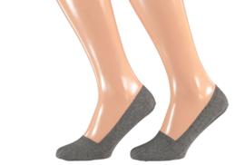 Sarlini invisible sneakersok | 2-pack | Antraciet Grijs | Maat 36/41