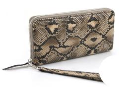 Camel python dames portemonnee Rosario