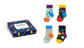 Happy Socks Kids 4-Pack Fruit Salad Giftbox 0-12 maanden, Maat 15/18