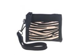 Zwart zebra klein portemoneetje | Buffalo
