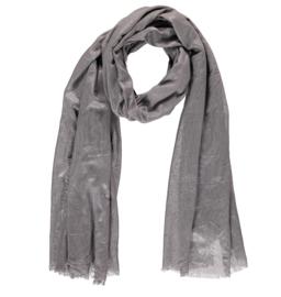 Sarlini lange Dames sjaal met subtiele zilver glanslook   Grijs