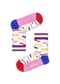 Happy Socks Kids Wavy Stripe Rib Sock