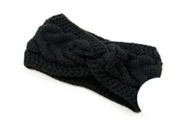 Knitted haarband Aspen zwart